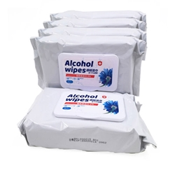 Sanitizing Alcohol Wipes Pack of 5 Bags